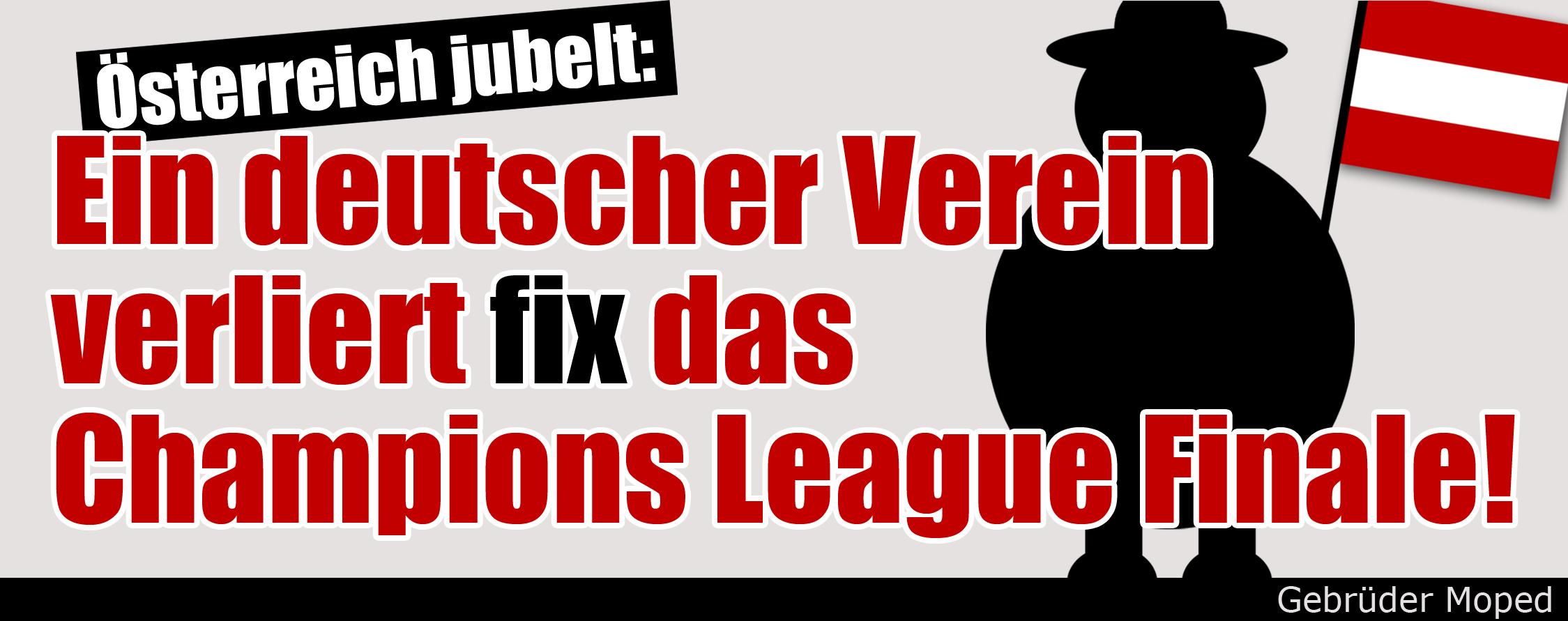 Ein deutscher Verein verliert fix das Champions League Finale!