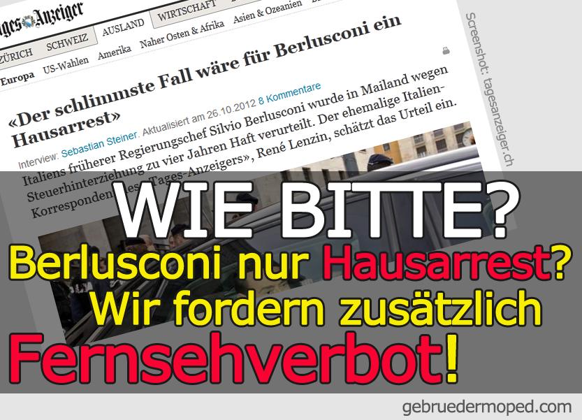 Fernsehverbot für Berlusconi