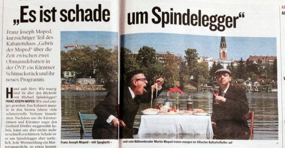 Gebrüder Moped in der Kleinen Zeitung, 05.09.2014