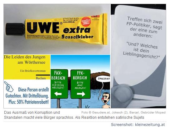 Screenshot Kleine Zeitung